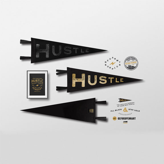 Hustle Pennant - Oxford Pennant - New York Makers