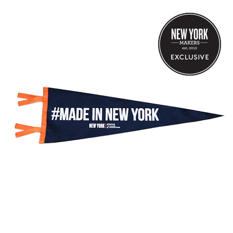 """#Made In New York"" Vintage-Inspired Pennant"