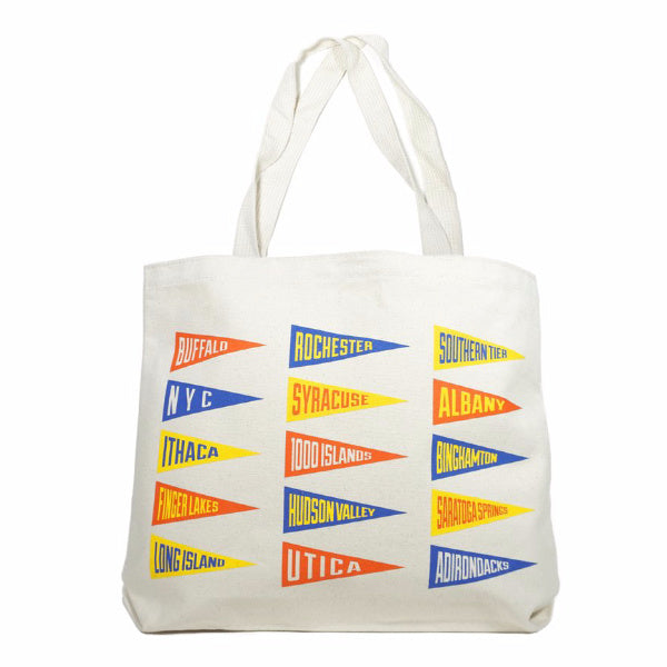 New York State Tote Bag - Oxford Pennant - New York Makers