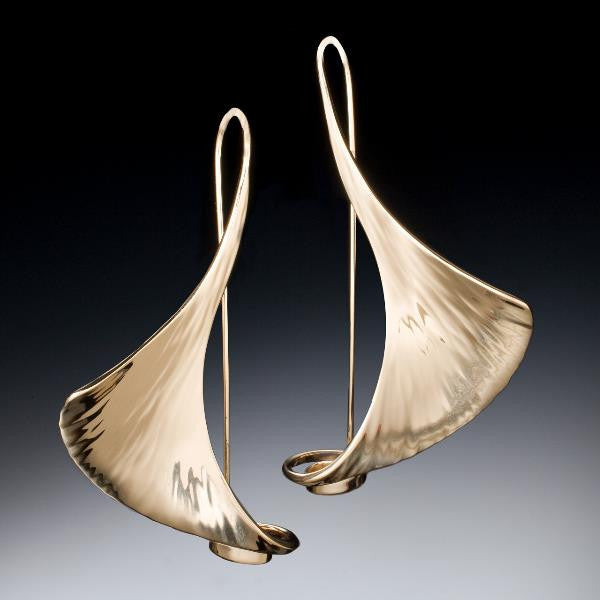 Gingko Earrings - Stephen LeBlanc Metalsmithing - New York Makers