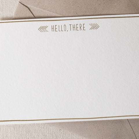 """Hello There"" Foil Card"