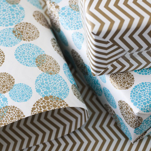 "Double-Sided Gift Wrap in ""Bough"""