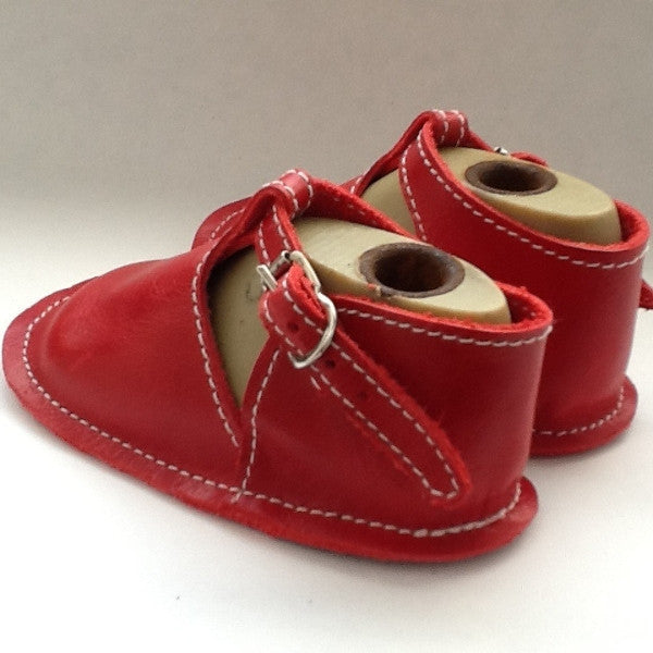 Red Baby Shoes with Buckles