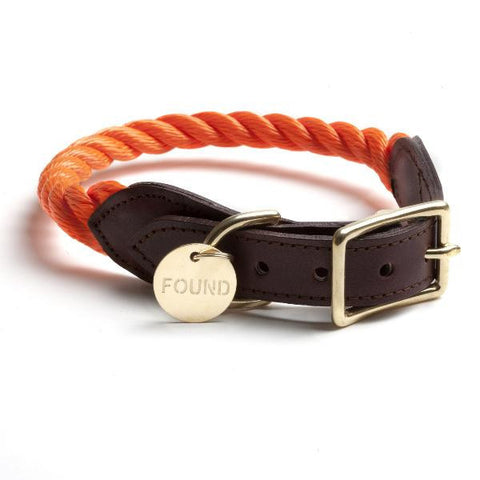 Rope Collar for Dog and Cat in Orange