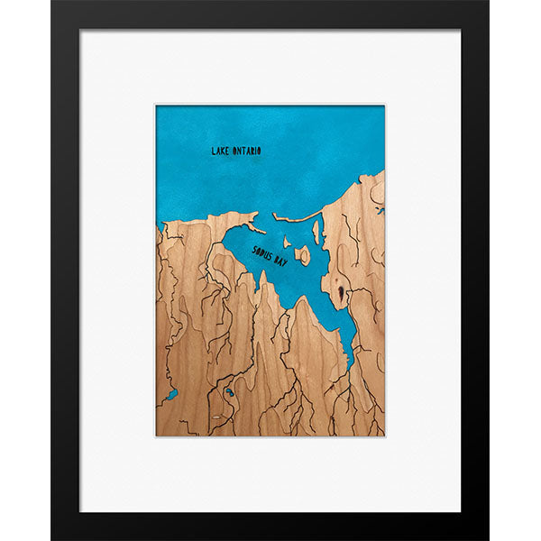 "Sodus Bay, NY 8"" x 10"" Frame in Multiple Finishes - Squirrel Hill Design and Craft - New York Makers"