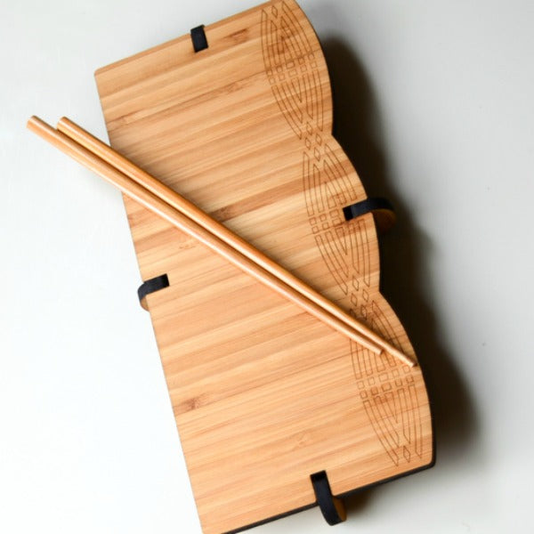 Arc Bamboo Sushi Serving Set - GioGio Design - New York Makers