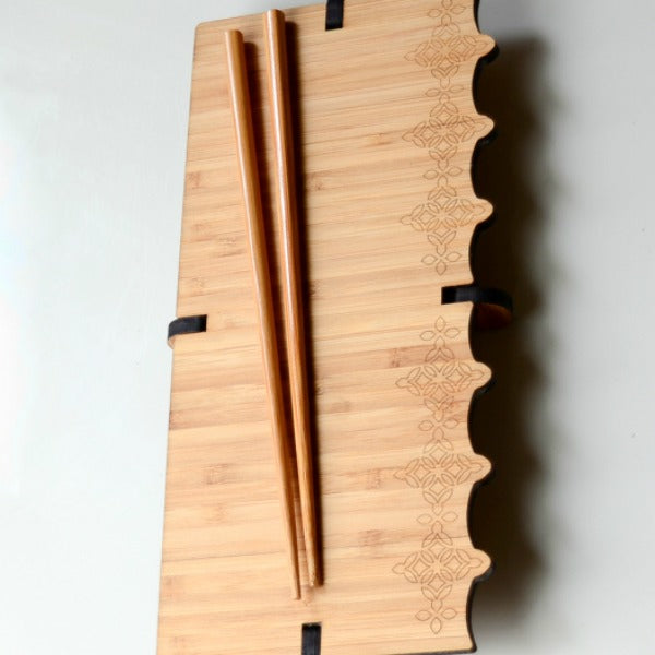 Diamond Bamboo Sushi Serving Set - GioGio Design - New York Makers