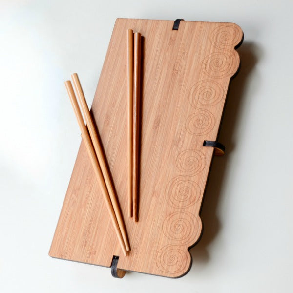 Swirl Sharing Bamboo Sushi Serving Set - GioGio Design - New York Makers
