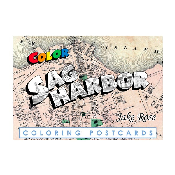 Sag Harbor Coloring Postcards