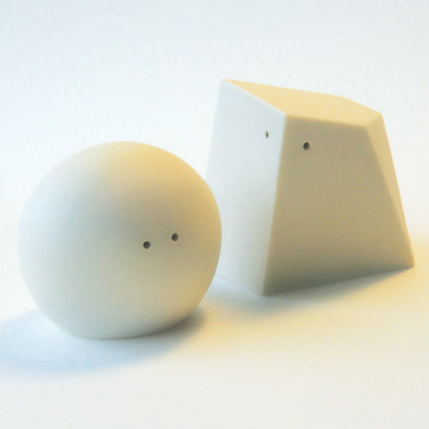 Porcelain Salt & Pepper Shakers in White