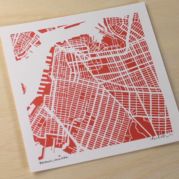 Park Slope Brooklyn Hand-Drawn Map Print
