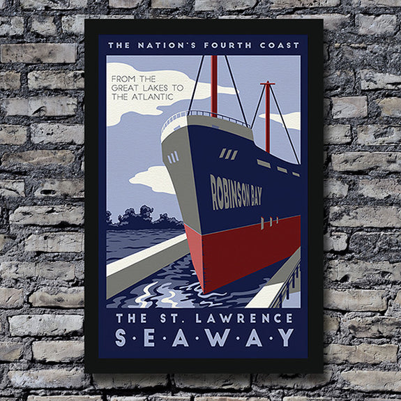 St. Lawrence Seaway Print - Lionheart Graphics - New York Makers