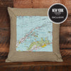 Shelter Island Topographic Pillow