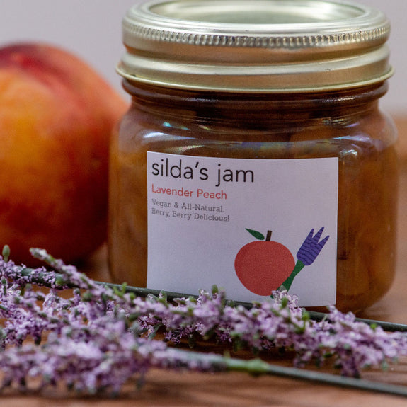 Lavender Peach Jam (Available soon in Gingerbread Peach for the holidays)