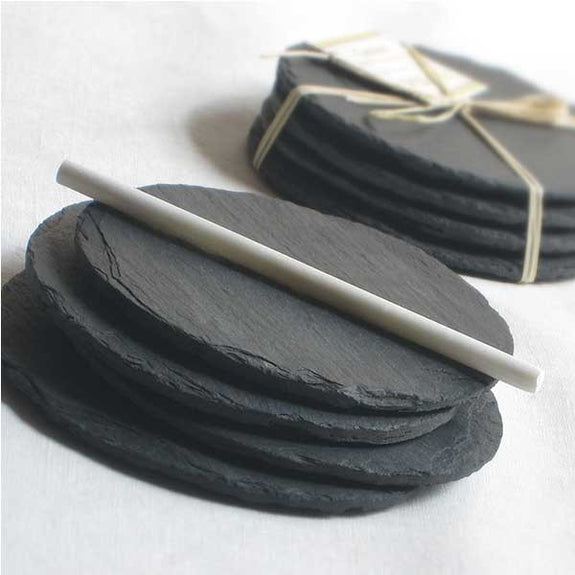 Salvaged Slate Coaster Set