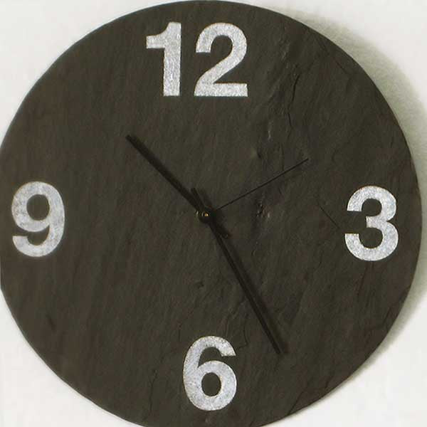 Chalk Numbers Slate Wall Clock