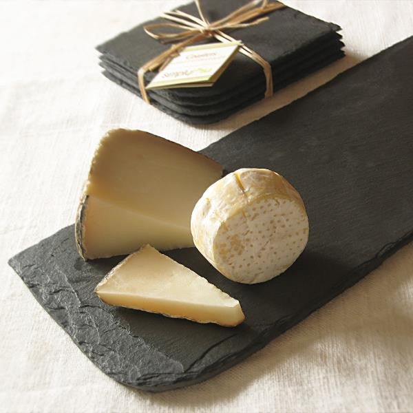Salvaged Slate Cheese Board & Coaster Set
