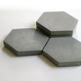 Concrete Hexagon Coaster in Multiple Sets and Shades - SimplyNu - New York Makers