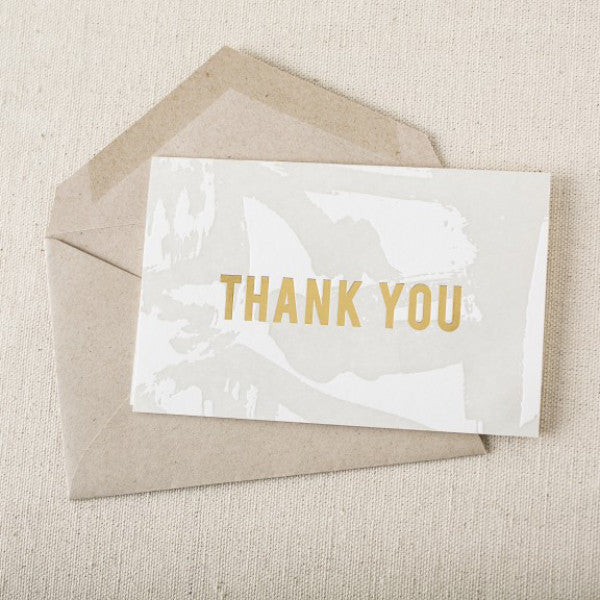 "Letterpress ""Flynn"" Thank You Cards"