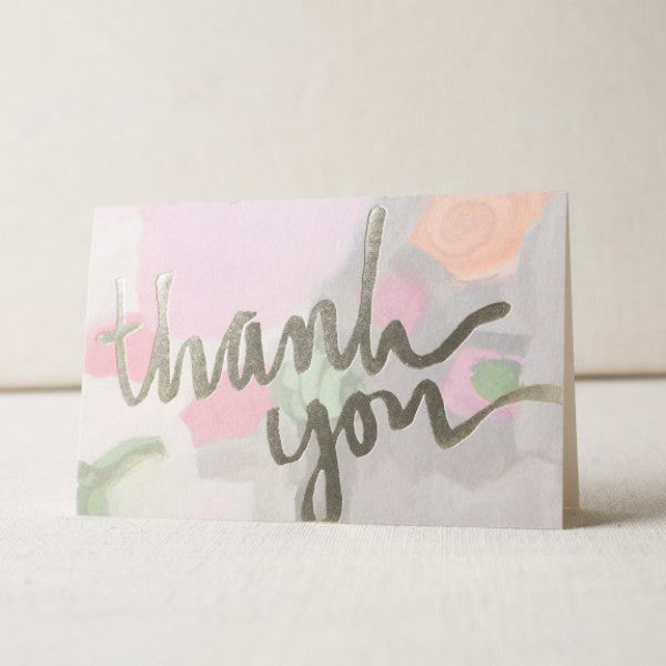 """Miette"" Foil Stamped Thank You Cards"