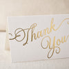 "Letterpress Gold ""Script"" Thank You Cards"