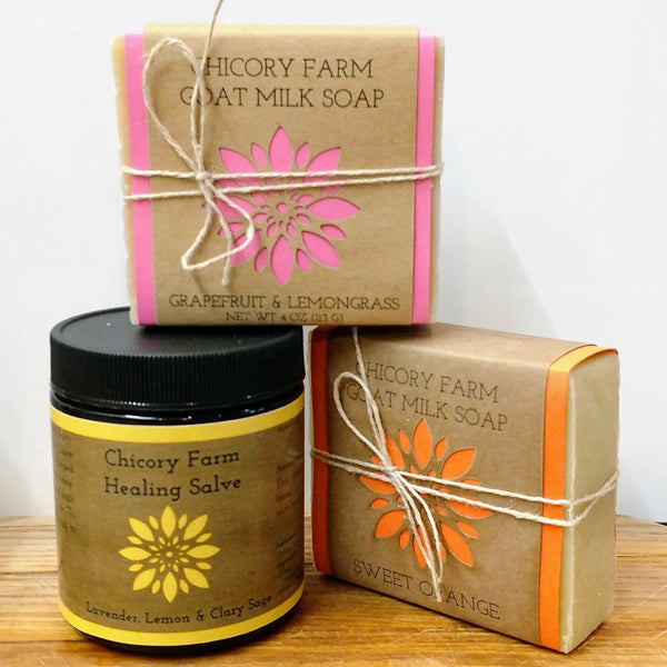 Citrus Soap and Salve Set - Chicory Farm Soap - New York Makers