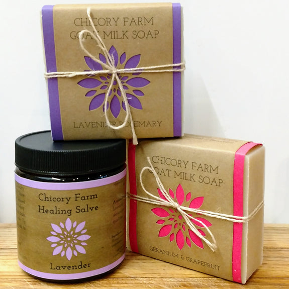 Floral Soap and Salve Set