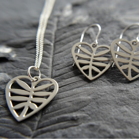 Leafy Heart Necklace