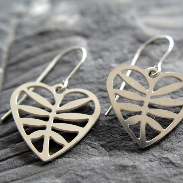 Leafy Heart Earrings