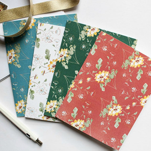 Floral Hand-Painted Watercolor Stationery Set - Harlem Hill - New York Makers