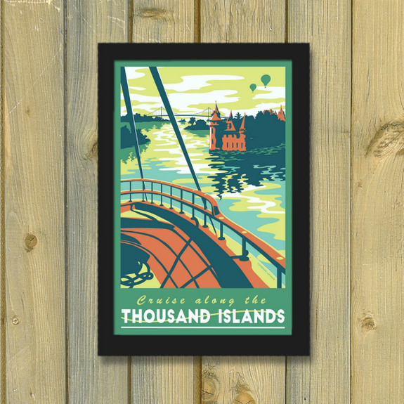 Thousand Islands Seaway Print - Lionheart Graphics - New York Makers