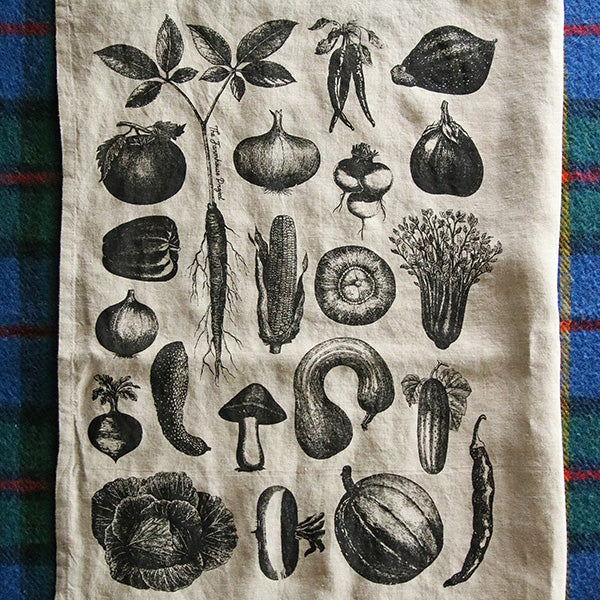 Veggie Kitchen Tea Towel