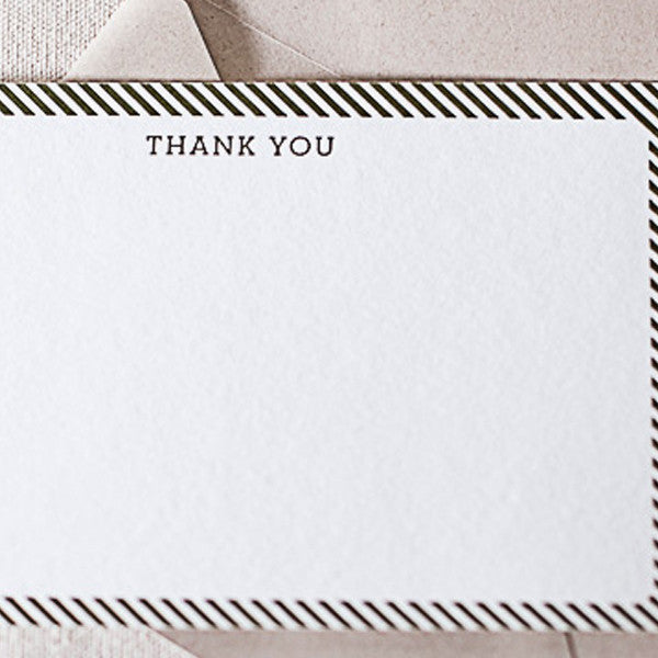 "Letterpress ""Band"" Thank You Cards"