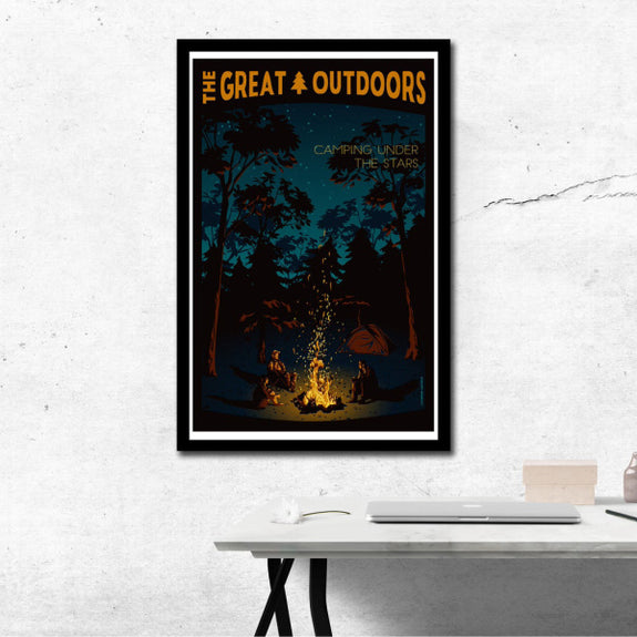 The Great Outdoors 'Camping Under the Stars' Print