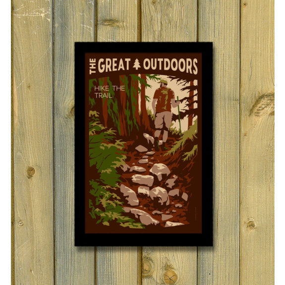 The Great Outdoors 'Hike the Trail' Print