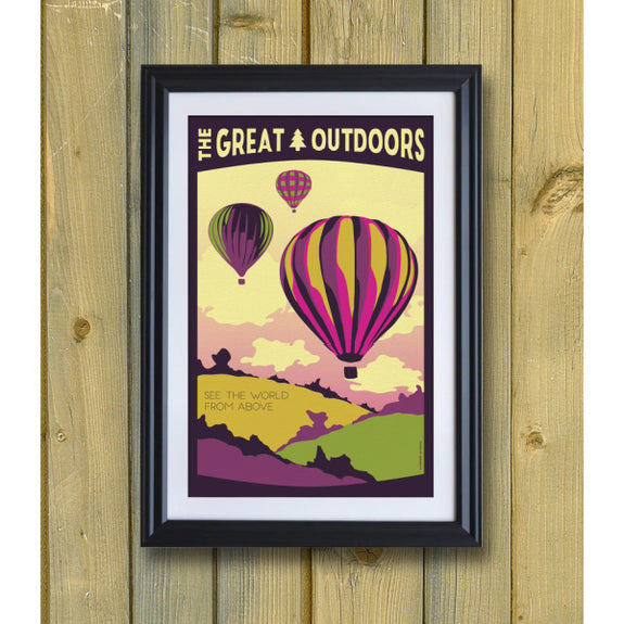 The Great Outdoors 'See the World from Above' Print