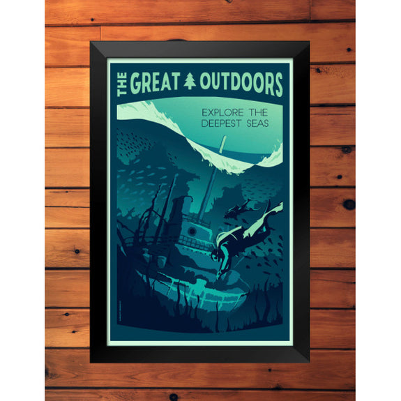 The Great Outdoors 'Explore the Deepest Seas' Print