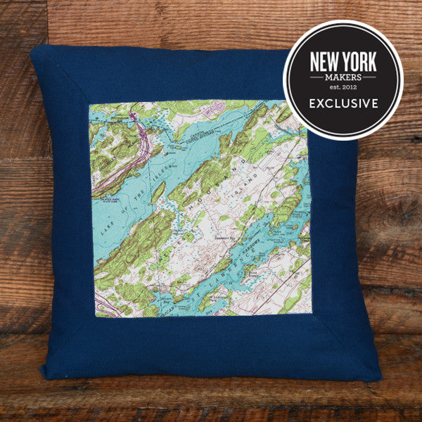 Thousand Islands Topographic Pillow