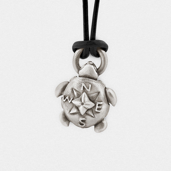"Turtle ""Compass Rose"" Locket - Snake Bones - New York Makers"