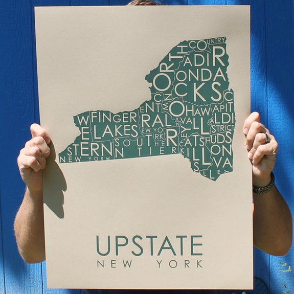 Upstate Poster in Multiple Colors - MW Neighborhoods - New York Makers