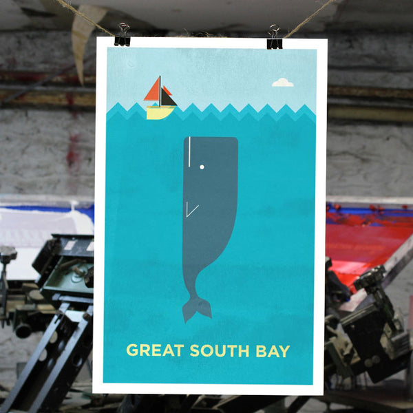 Great South Bay Print - Bold Version Design - New York Makers