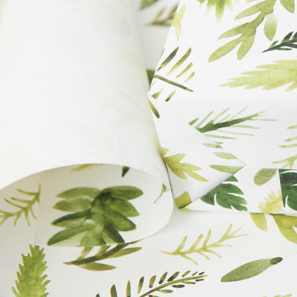 "One-Sided Gift Wrap in ""Ferns"""