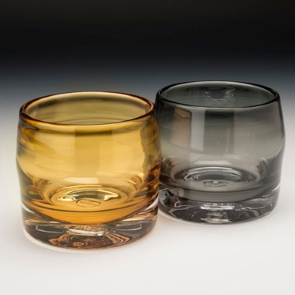 Lady Fingers Handblown Whiskey Glasses - Bobby Sharp Glassworks - New York Makers