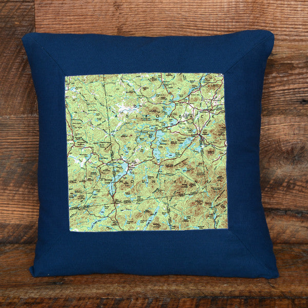 Topographic Pillow in Multiple Locations, Colors and Sizes