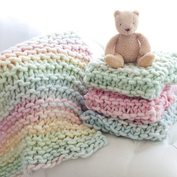Merino Wool Baby Blanket in Multiple Colors