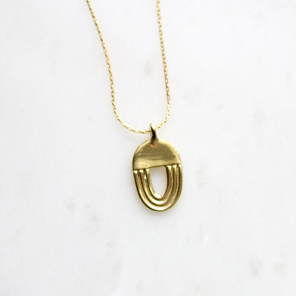Brass Archway Necklace - Dovecote - New York Makers