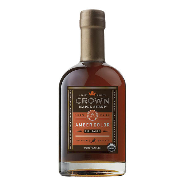 Maple Syrup: Grade A, Amber Color, Rich Taste (375ml) - Crown Maple - New York Makers
