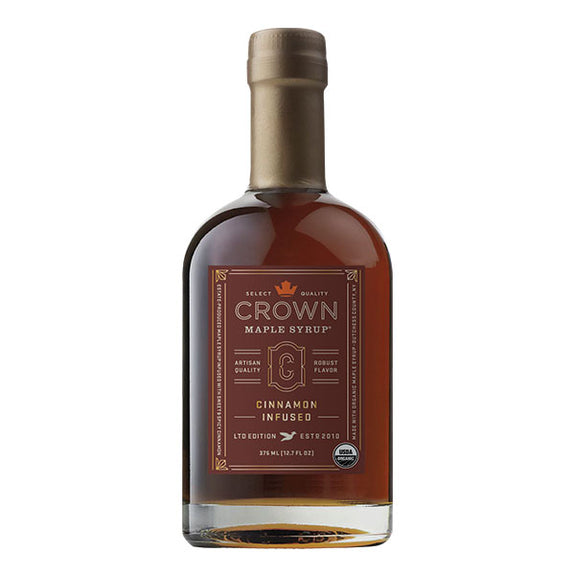 Maple Syrup: Cinnamon Infused (375ml) - Crown Maple - New York Makers
