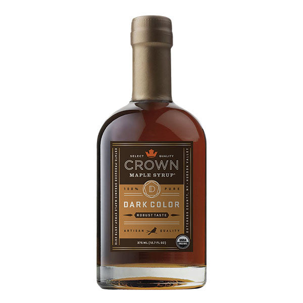 Maple Syrup: Grade A, Dark Color, Robust Taste (375ml) - Crown Maple - New York Makers