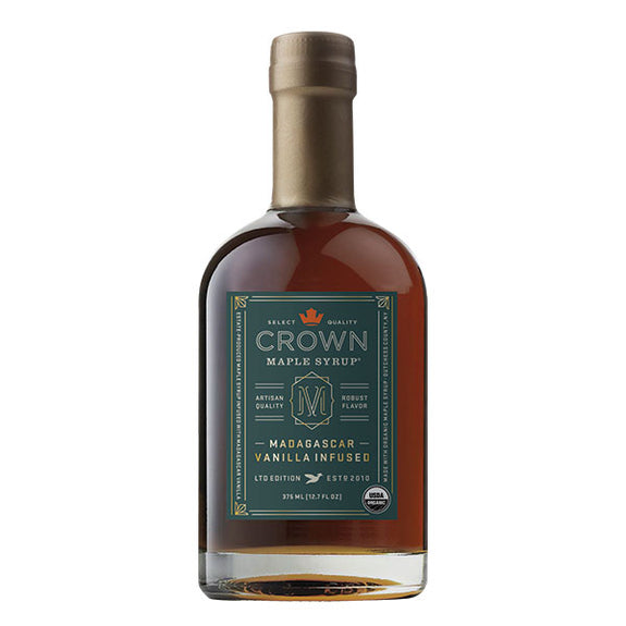 Maple Syrup: Madagascar Vanilla Infused (375ml) - Crown Maple - New York Makers